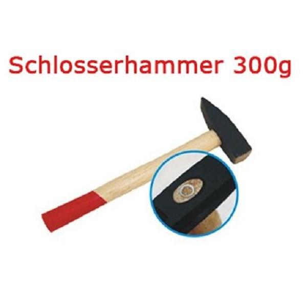 Schlosserhammer 300 g Schlosser Hammer mit Stiel aus Holz