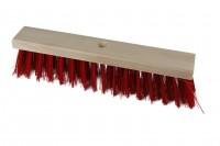 40 cm Straßenbesen PVC rot 400 x 65 mm Hofbesen Besen Industriebesen