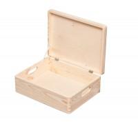 16,8l, 30x40x14cm Aufbewahrungsbox Multibox Lagerbox Holzkiste mit Deckel