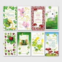 Glückwunschkarten Geburtstagskarten Grußkarten Glück 11,5x17,5 cm