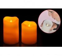 LED Kerzenset LED Kerze elektrisch echtwachs flackernd Kerze An-/ Auspusten