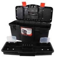 Stabiler Werkzeugkoffer, Werkzeugbox, 26 x 57 x 26cm Werkzeugkiste Lagerkiste