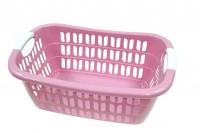Wäschekorb aus Plastik rosa 55 x 37 x 20 cm