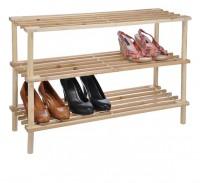 Schuhregal Schuhschrank Schuhablage Schuhständer Regal Holz 3 Böden hell