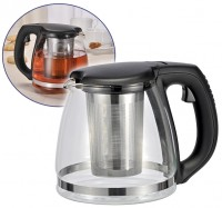 Teekanne, 1,2 Liter, Karaffe, Glaskanne, Teezubereiter