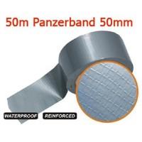 0,08 Eur/m 50 m Gewebeband verstärktes Reparaturband 50mm x 50 Meter Panzerband