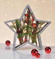 Weihnachtsstern aus Holz inkl. Dekoration Stern, Weihnachtsstern, Weihnachten