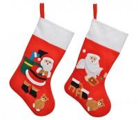 Weihnachtsstiefel, Geschenktasche, Nikolausstrumpf, Stiefel, 48 cm