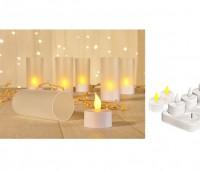 LED Teelichterset LED Kerze elektrisches Teelicht inkl. Ladestation Deko Kerze