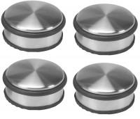 4 Stück Schwerer Türstopper Edelstahl Gummiring, rund, 1,20 kg - 10 x 4,5 cm