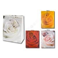 1 Stück Geschenktüte MEDIUM, Rosen,Geschenktasche,Tüte 23 x 18 x 10 cm
